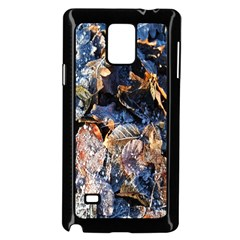 Frost Leaves Winter Park Morning Samsung Galaxy Note 4 Case (black)