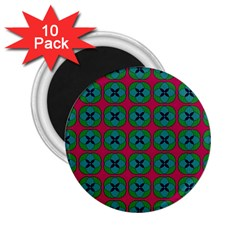 Geometric Patterns 2.25  Magnets (10 pack)