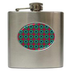 Geometric Patterns Hip Flask (6 Oz)