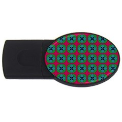 Geometric Patterns USB Flash Drive Oval (1 GB)