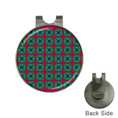 Geometric Patterns Hat Clips With Golf Markers