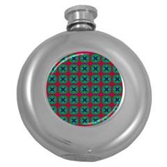 Geometric Patterns Round Hip Flask (5 oz)