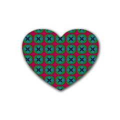 Geometric Patterns Rubber Coaster (Heart)