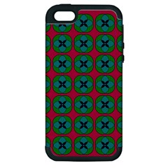 Geometric Patterns Apple Iphone 5 Hardshell Case (pc+silicone)