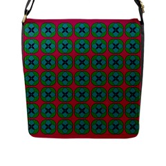 Geometric Patterns Flap Messenger Bag (L)