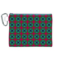 Geometric Patterns Canvas Cosmetic Bag (XL)