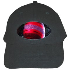 Glass Ball Decorated Beautiful Red Black Cap