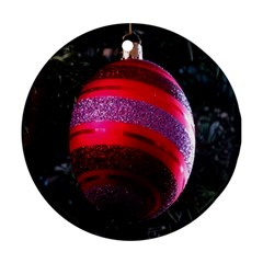 Glass Ball Decorated Beautiful Red Ornament (Round)