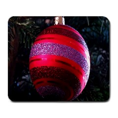 Glass Ball Decorated Beautiful Red Large Mousepads