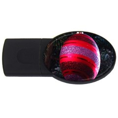 Glass Ball Decorated Beautiful Red USB Flash Drive Oval (4 GB)