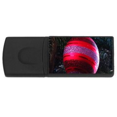 Glass Ball Decorated Beautiful Red USB Flash Drive Rectangular (4 GB)