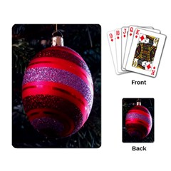 Glass Ball Decorated Beautiful Red Playing Card