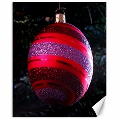 Glass Ball Decorated Beautiful Red Canvas 16  X 20