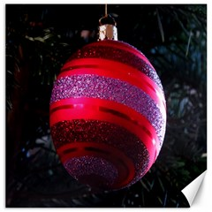 Glass Ball Decorated Beautiful Red Canvas 20  x 20