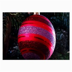 Glass Ball Decorated Beautiful Red Large Glasses Cloth