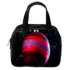 Glass Ball Decorated Beautiful Red Classic Handbags (one Side)
