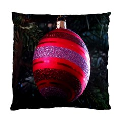 Glass Ball Decorated Beautiful Red Standard Cushion Case (two Sides)