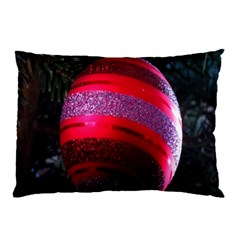 Glass Ball Decorated Beautiful Red Pillow Case