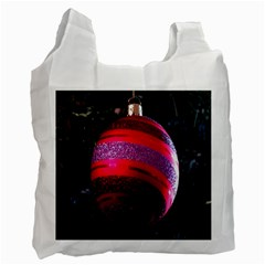 Glass Ball Decorated Beautiful Red Recycle Bag (Two Side)