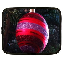 Glass Ball Decorated Beautiful Red Netbook Case (XXL)
