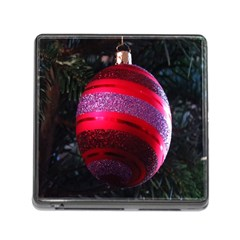 Glass Ball Decorated Beautiful Red Memory Card Reader (Square)