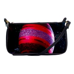 Glass Ball Decorated Beautiful Red Shoulder Clutch Bags