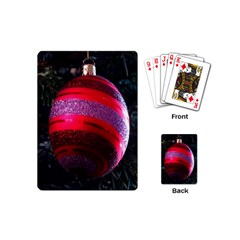 Glass Ball Decorated Beautiful Red Playing Cards (Mini)