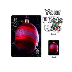 Glass Ball Decorated Beautiful Red Playing Cards 54 (Mini)