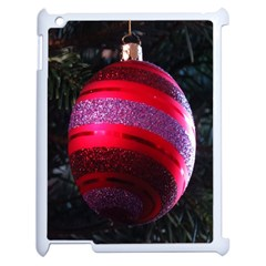 Glass Ball Decorated Beautiful Red Apple iPad 2 Case (White)