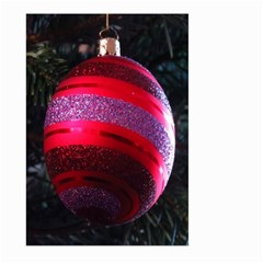 Glass Ball Decorated Beautiful Red Large Garden Flag (Two Sides)