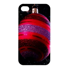 Glass Ball Decorated Beautiful Red Apple Iphone 4/4s Premium Hardshell Case