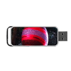 Glass Ball Decorated Beautiful Red Portable Usb Flash (one Side)