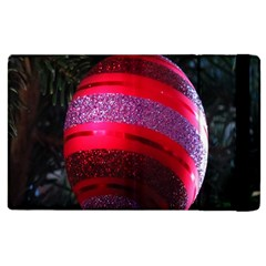 Glass Ball Decorated Beautiful Red Apple iPad 3/4 Flip Case