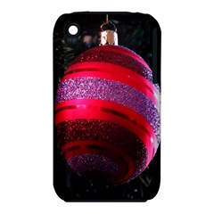 Glass Ball Decorated Beautiful Red iPhone 3S/3GS