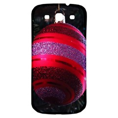 Glass Ball Decorated Beautiful Red Samsung Galaxy S3 S III Classic Hardshell Back Case