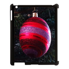 Glass Ball Decorated Beautiful Red Apple Ipad 3/4 Case (black)
