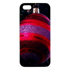 Glass Ball Decorated Beautiful Red Apple Iphone 5 Premium Hardshell Case