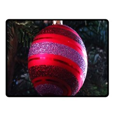 Glass Ball Decorated Beautiful Red Double Sided Fleece Blanket (Small)