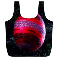 Glass Ball Decorated Beautiful Red Full Print Recycle Bags (l)
