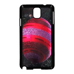 Glass Ball Decorated Beautiful Red Samsung Galaxy Note 3 Neo Hardshell Case (Black)