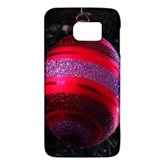 Glass Ball Decorated Beautiful Red Galaxy S6