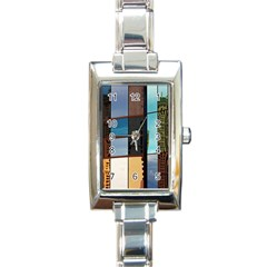 Glass Facade Colorful Architecture Rectangle Italian Charm Watch