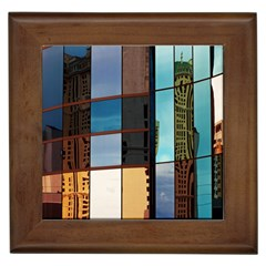Glass Facade Colorful Architecture Framed Tiles