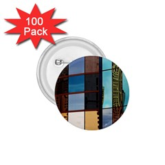 Glass Facade Colorful Architecture 1.75  Buttons (100 pack)