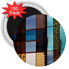 Glass Facade Colorful Architecture 3  Magnets (100 pack)
