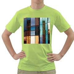 Glass Facade Colorful Architecture Green T-Shirt