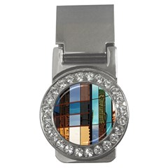Glass Facade Colorful Architecture Money Clips (cz)