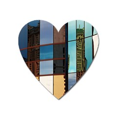 Glass Facade Colorful Architecture Heart Magnet