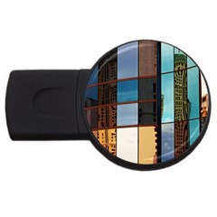 Glass Facade Colorful Architecture USB Flash Drive Round (1 GB)