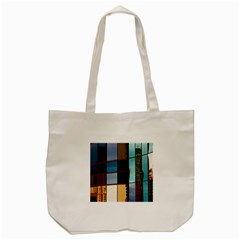 Glass Facade Colorful Architecture Tote Bag (cream)